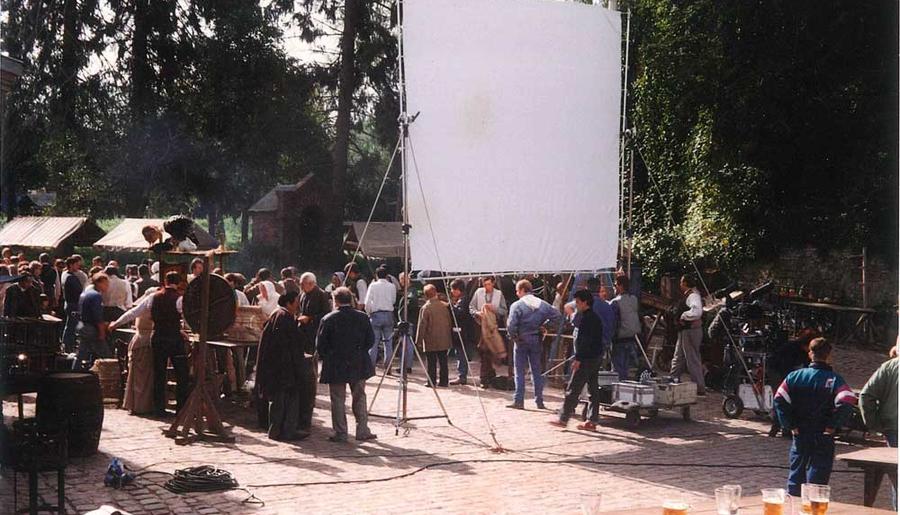 L'envers du décor de l'une des scènes du film: la ducasse