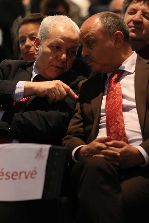 Mohamed Ourak (à gauche), ancien président de l'Université de Valenciennes et du Hainaut-Cambrésis et Abdelhakim Artiba, qui lui a succédé