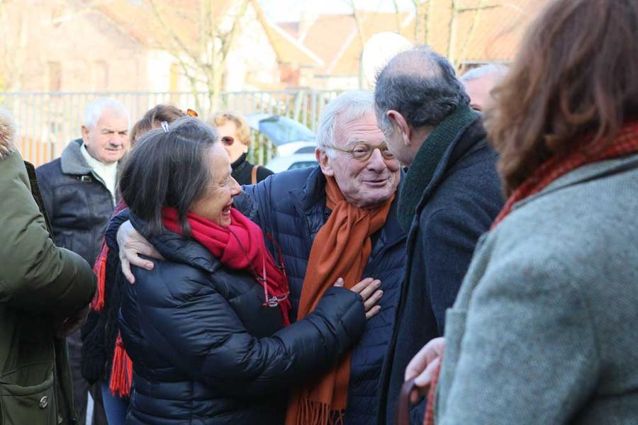 Des retrouvailles fortes en émotions avec Pierre Grunstein (au centre), producteur exécutif, Rajan (à droite), chauffeur de Claude Berri et Claire Chevauchez (à gauche), collaboratrice du réalisateur
