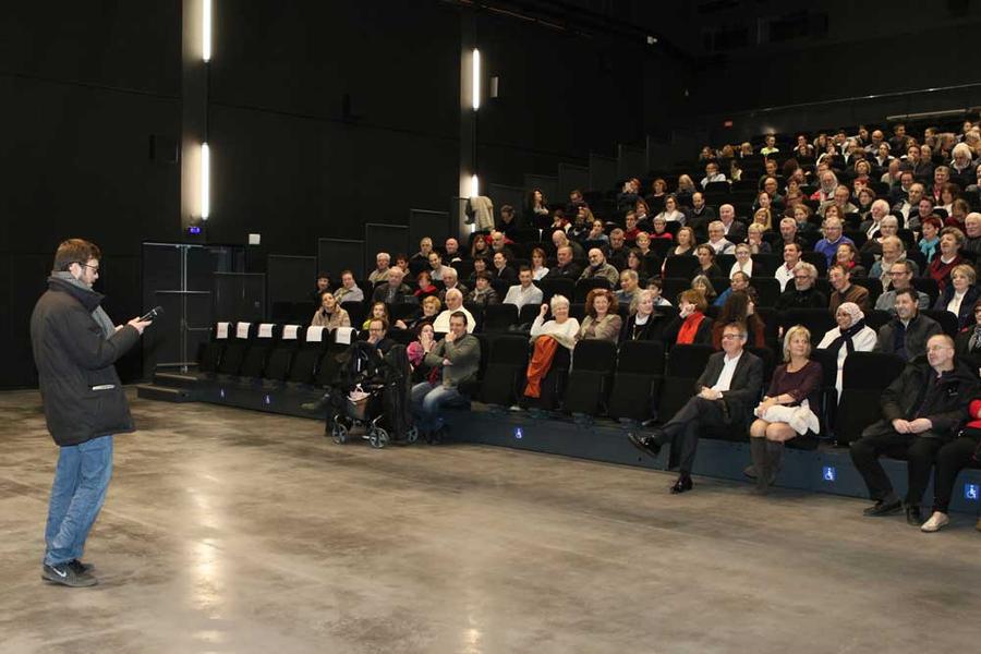 Après le vernissage de l'exposition, le film, restauré en 4K, a été projeté dans la salle du LEAUD