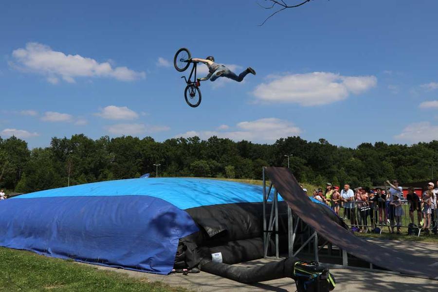 Des démonstrations de BMX, réalisées par des pros, ont ponctué la journée.