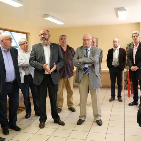 Le Président de La Porte du Hainaut Alain Bocquet remercie les Ateliers de l'Ostrevent pour l'accueil