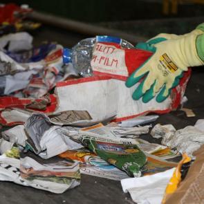 Tri sur tapis - déchets